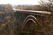 West Virginia Landscape Posters - Bridge Poster by Blink Images