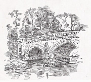 Bridge Drawings Originals - Bridge by David Garren