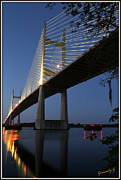 Jacksonville Framed Prints - Bridge Framed Print by Gennadiy Gedroit