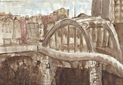 Baltimore Drawings Originals - Bridge in Baltimore by Phillip Castaldi