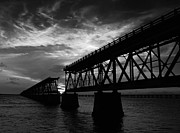 Bahia Honda Posters - Bridge in Black  Poster by Gary Oliver