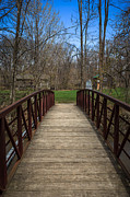 County Park Prints - Bridge in Deep River County Park Northwest Indiana Print by Paul Velgos