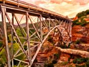 Bridge In Oak Creek Canyon Print by Michael Pickett