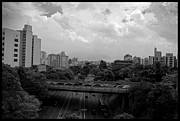 Sao Paulo Framed Prints - Bridge in Sao Paulo Framed Print by Leon Woods