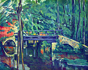John Peter Posters - Bridge in the forest by Cezanne Poster by John Peter