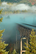Annie Pflueger Art - Bridge in the Mist by Annie Pflueger