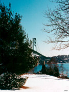 New England Winter Framed Prints - Bridge in winter Framed Print by Tom Prendergast