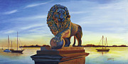 Florida Bridge Originals - Bridge Lion by Caroline Conkin