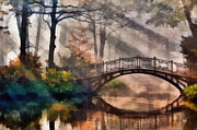 Land Digital Art Originals - Bridge by Marina Likholat