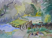 Bridge Near Enniskerry Ireland  Print by Warren Thompson