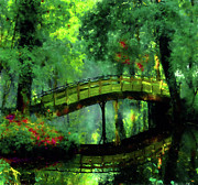 Impressionism Metal Prints - Bridge Of Dreams Metal Print by Zeana Romanovna