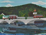Shelburne Falls Prints - Bridge of Flowers Print by Sally Rice