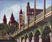 Florida Bridge Originals - Bridge of Lions St. Augustine by Francoise Lynch