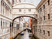 Waterway Prints - Bridge of Sighs Print by Susan  Schmitz