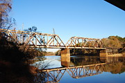 Train On Bridge Prints - Bridge On The Choctawhatchee #1 Print by Charlie Day