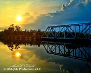 Florida Bridges Digital Art Prints - Bridge Over Calm Waters Print by Mark Olshefski