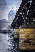 Tourist Posters - Bridge over Seine in Paris Poster by Elena Elisseeva