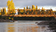 Evening Scenes Photos - Bridge Over the Bulkley River Telkwa British Columbia by Mary Lee Dereske