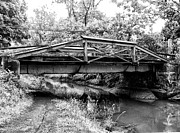 Crossing Over Prints - Bridge over the Delaware Canal at Washingtons Crossing Print by Bill Cannon