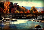 Riverwalk Posters - Bridge Over the Truckee River Poster by Bobbee Rickard