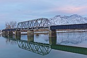 Kamloops Prints - Bridge Over Tranquil Waters Print by Steve Boyko