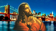 Bible Art Prints Digital Art - Bridge over troubled waters by Karen Showell