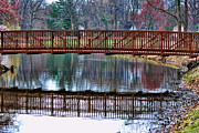 Lobby Art Photo Framed Prints - Bridge over Water Framed Print by Paul Ward