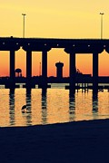 Bridge Sunset Print by Hillery Bosarge
