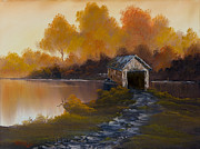 Ross Painting Originals - Bridge to Autumn by C Steele
