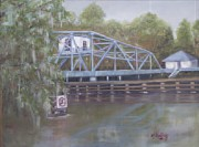 Waccamaw River Paintings - Bridge to Sawkastee by Wendy Shelley