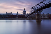 London Skyline Art - Bridge to St Pauls I by Matthew Train
