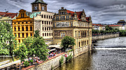 Astronomical Clock Prints - Bridge View - Prague Print by Jon Berghoff