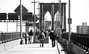 Brooklyn Bridge Prints - Bridge Walk 1990s Print by John Rizzuto