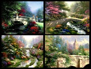 Kinkade Prints - Bridges Bundle Print by Thomas Kinkade