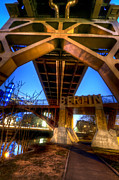 Berlin Digital Art Acrylic Prints - Bridges coming together Acrylic Print by Nathan Wright