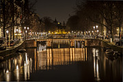 Bridges Of Amsterdam Print by Shari Mattox