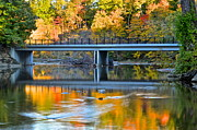 Colors Of Autumn Prints - Bridges of Madison County Print by Robert Harmon