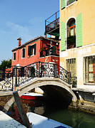 History Channel Metal Prints - Bridges of Venice Metal Print by Irina Sztukowski