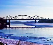 Bridges Over The Mississippi Print by Christi Kraft