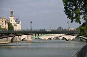 French Revolution Posters - Bridges over the Seine and Conciergerie - Paris Poster by RicardMN Photography