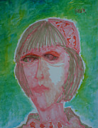 Portraits Paintings - Bridgete  by Oscar Penalber