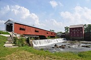 Bridgeton Covered Bridge Art - Bridgeton Covered Bridge by Pamela Schreckengost