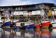 Flyer Prints - Bridlington Marina Print by Svetlana Sewell