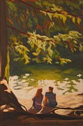 Young Love Painting Originals - Bright Angel Moment by Janet McDonald