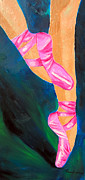 Dance Shoes Prints - Bright Ballet Print by Tracey Bautista