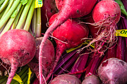 Farm Stand Art - Bright beets by Susan Colby