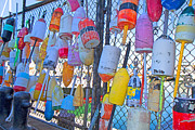 Vibrant Color Art - Bright Buoys by Betsy A Cutler East Coast Barrier Islands