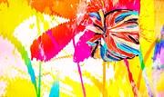 Bright Floral  Collage Print by Anne-Elizabeth Whiteway
