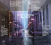 Chicago Photography Mixed Media Posters - Bright Lights Big City Poster by Cristina Norcross poetry and Anita Burgermeister artwork