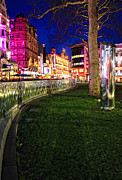 Park Scene Framed Prints - Bright lights of London Framed Print by Jasna Buncic